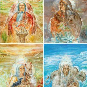 Set de 4 cartesTotems des 4 saisons