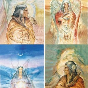 Set de 4 cartesVisions de Shamans