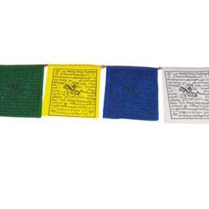 Mini drapeaux de prières -10 mini drapeaux de 7 x 8 cm - guirlande d'environ 80 cm de long