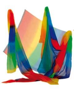 Écharpes Arc en Ciel - Crêpe de soie (90x180cm)