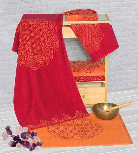 Serviettes et draps de bainsRubis-Corail